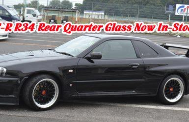GT-R R34 Rear Quarter Glasses